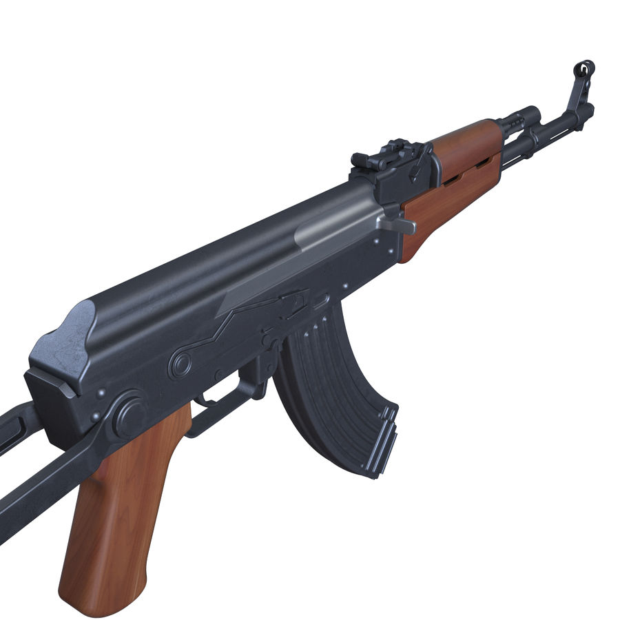 Type 56-1 assault rifle royalty-free 3d model - Preview no. 3