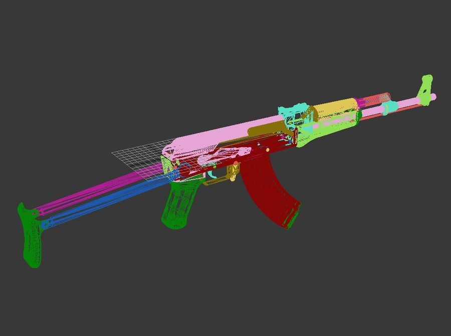 Type 56-1 assault rifle royalty-free 3d model - Preview no. 11