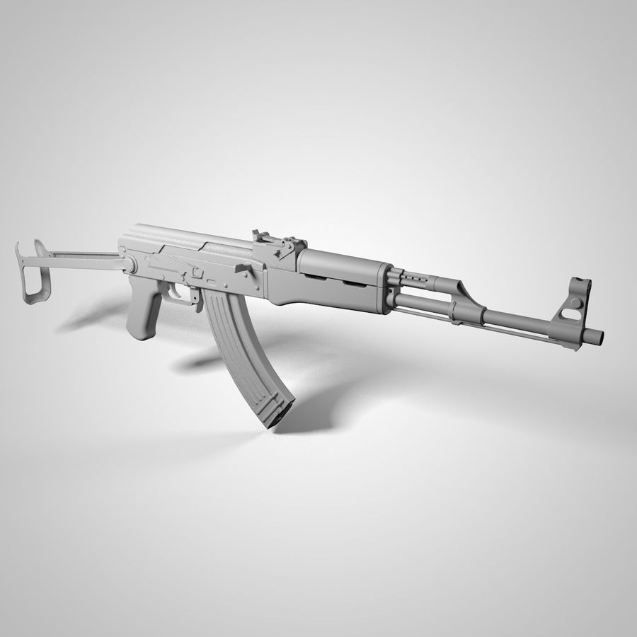 Type 56-1 assault rifle royalty-free 3d model - Preview no. 6