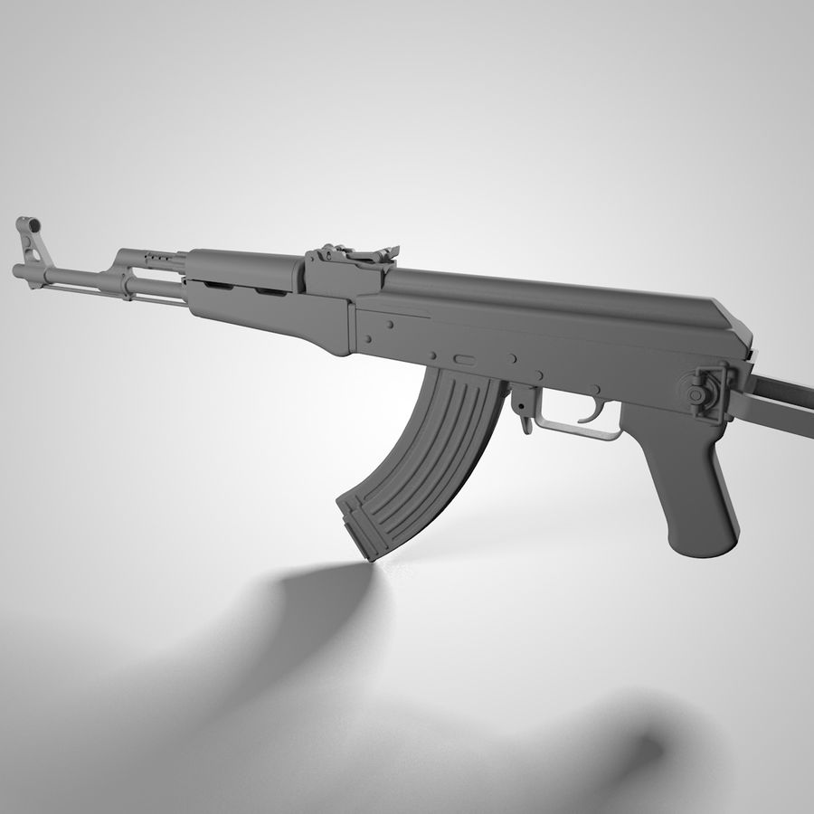 Type 56-1 assault rifle royalty-free 3d model - Preview no. 5