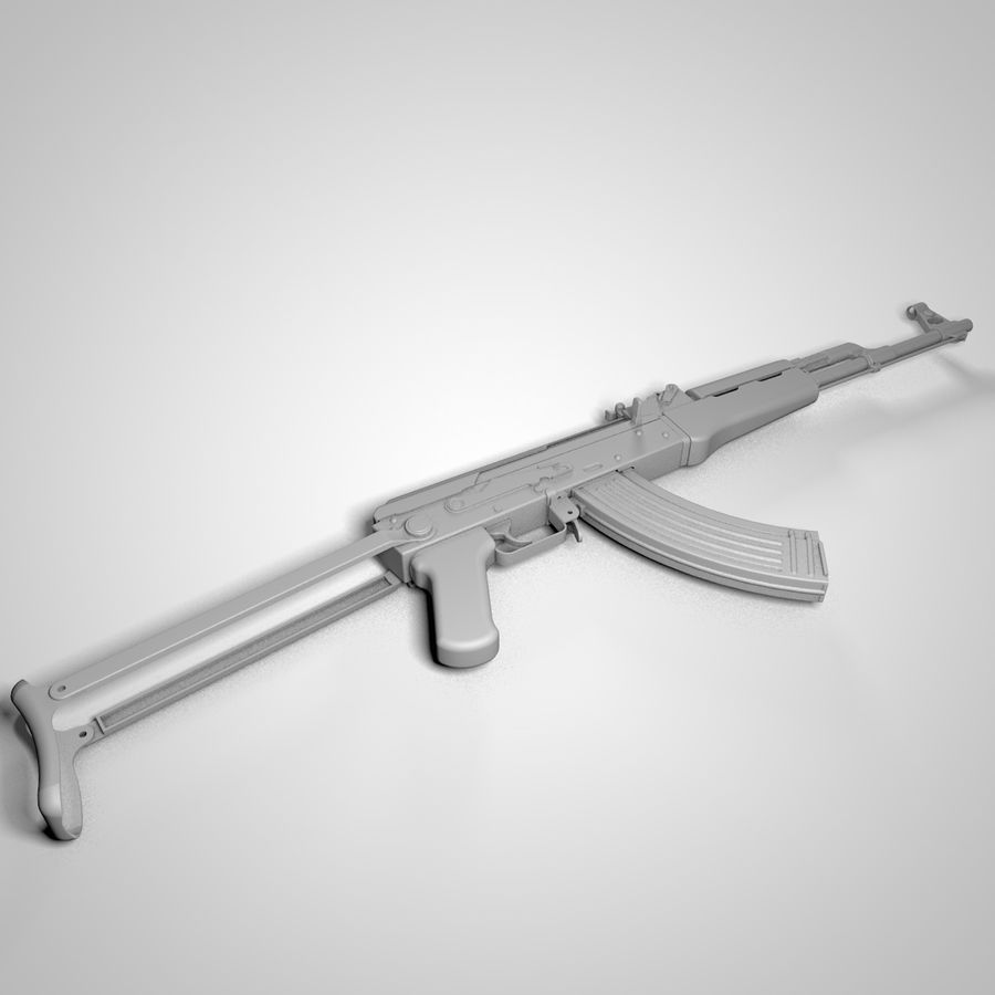Type 56-1 assault rifle royalty-free 3d model - Preview no. 9