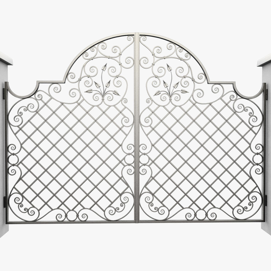 Wrought Iron Gate 29 royalty-free 3d model - Preview no. 5