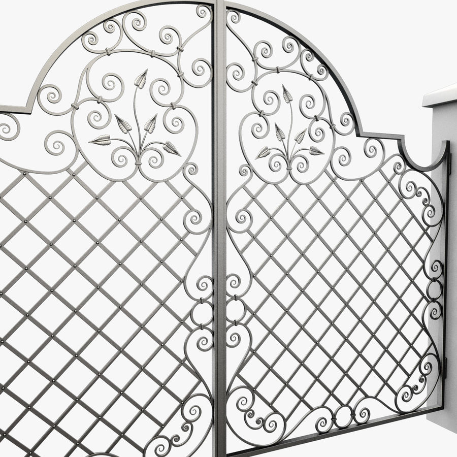 Wrought Iron Gate 29 royalty-free 3d model - Preview no. 9