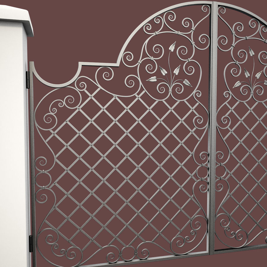 Wrought Iron Gate 29 royalty-free 3d model - Preview no. 13