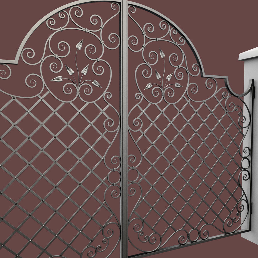 Wrought Iron Gate 29 royalty-free 3d model - Preview no. 11