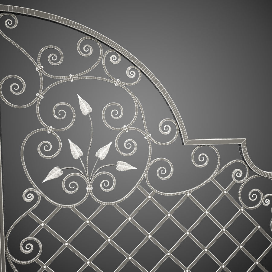 Wrought Iron Gate 29 royalty-free 3d model - Preview no. 2