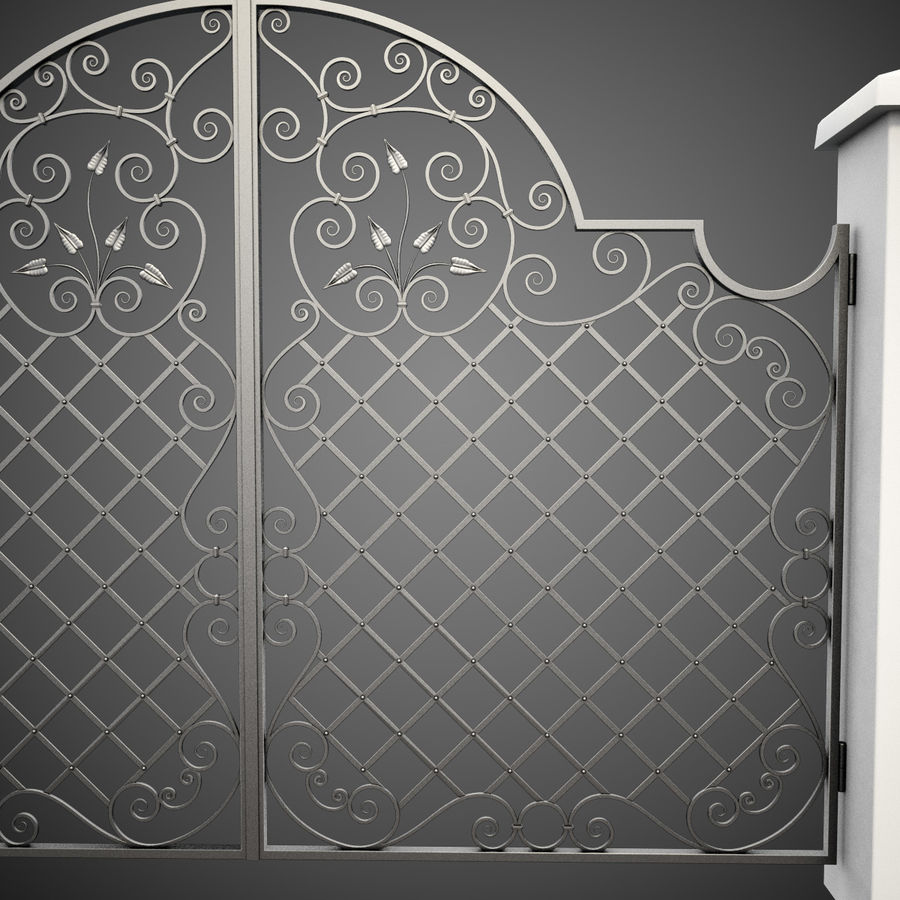 Wrought Iron Gate 29 royalty-free 3d model - Preview no. 7