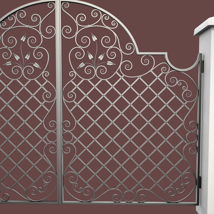 Wrought Iron Gate 29 royalty-free 3d model - Preview no. 12