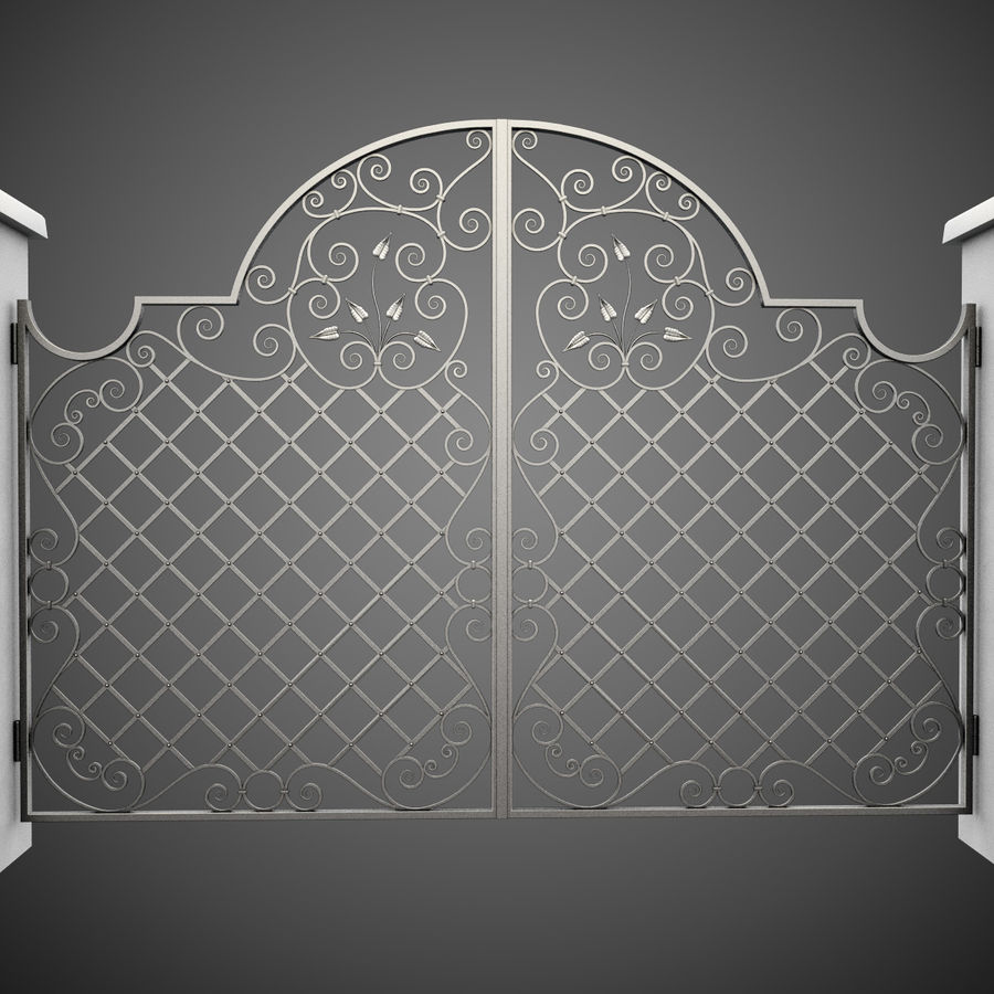 Wrought Iron Gate 29 royalty-free 3d model - Preview no. 3