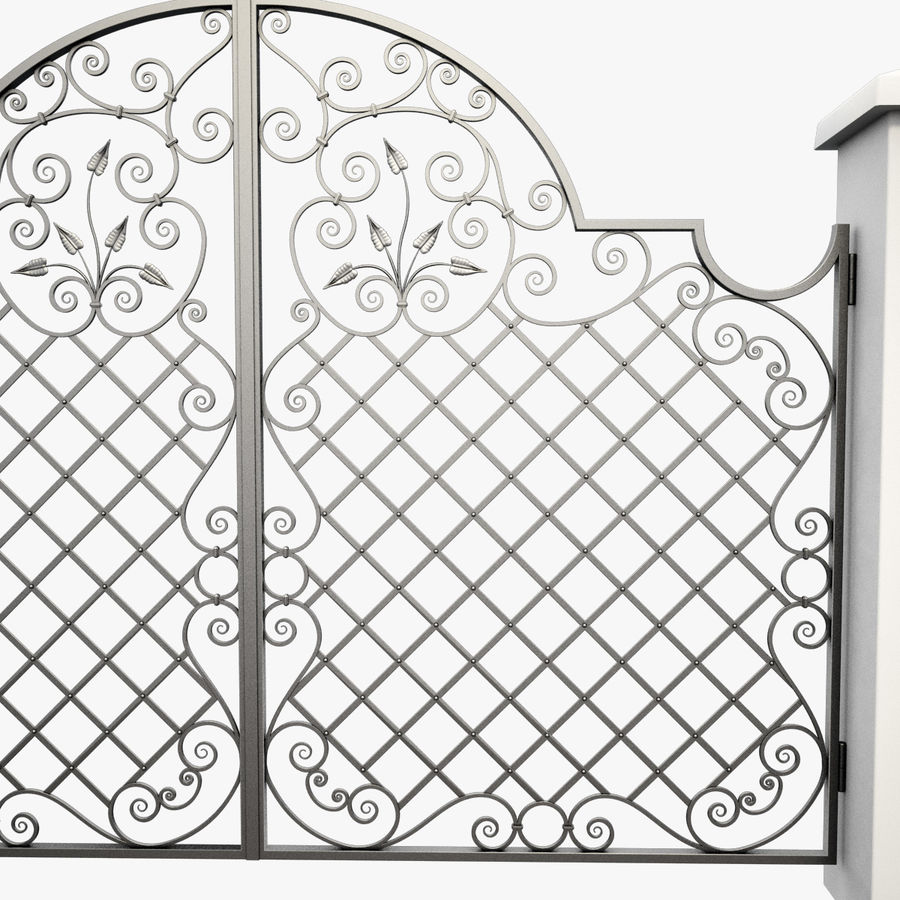 Wrought Iron Gate 29 royalty-free 3d model - Preview no. 10