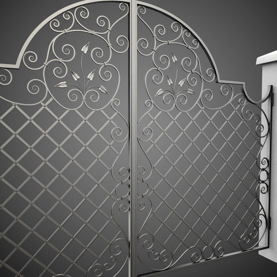 Wrought Iron Gate 29 royalty-free 3d model - Preview no. 4