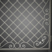 Wrought Iron Gate 29 3d model