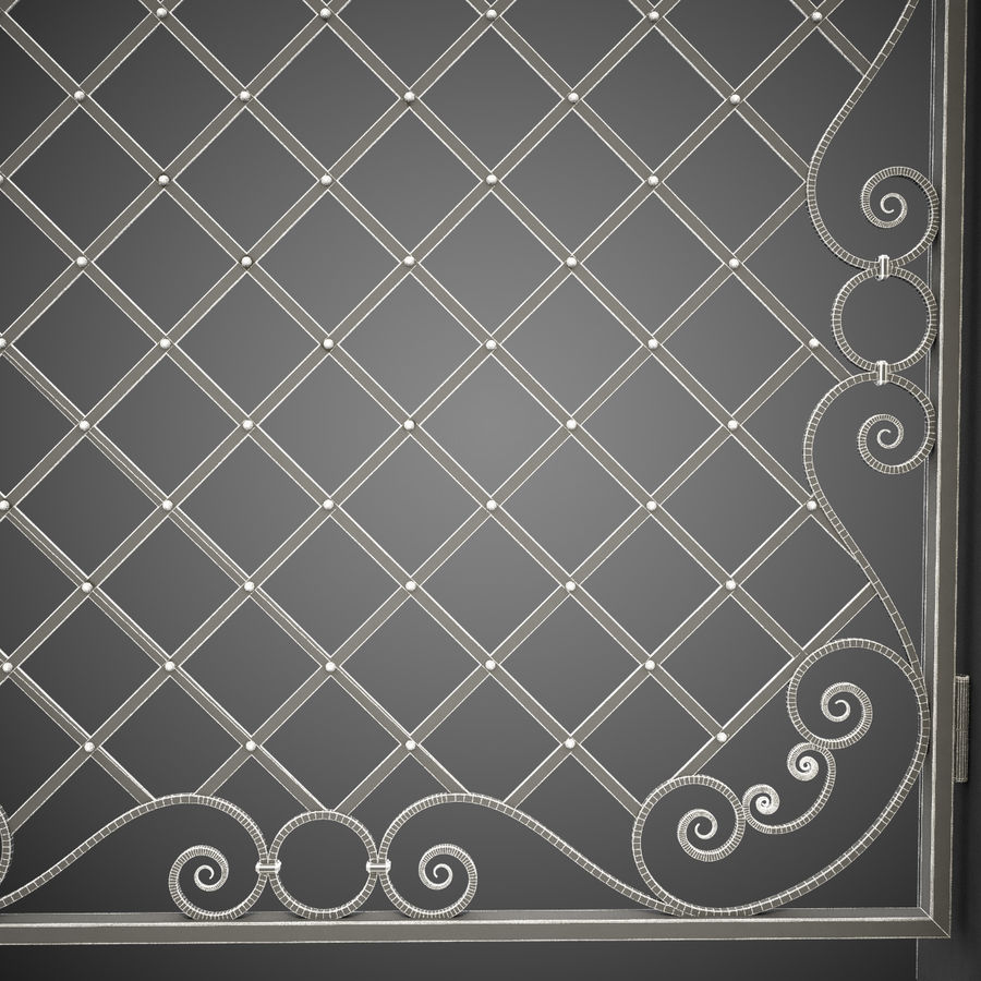 Wrought Iron Gate 29 royalty-free 3d model - Preview no. 1