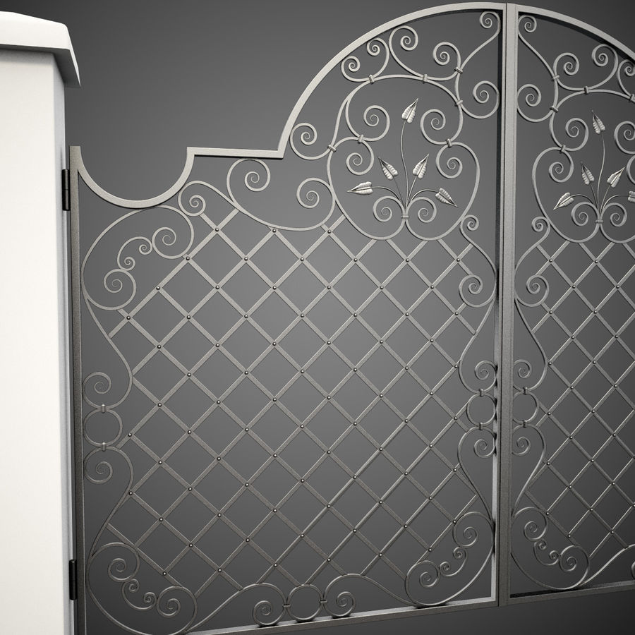 Wrought Iron Gate 29 royalty-free 3d model - Preview no. 8