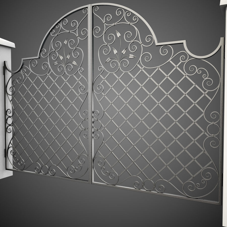 Wrought Iron Gate 29 royalty-free 3d model - Preview no. 6