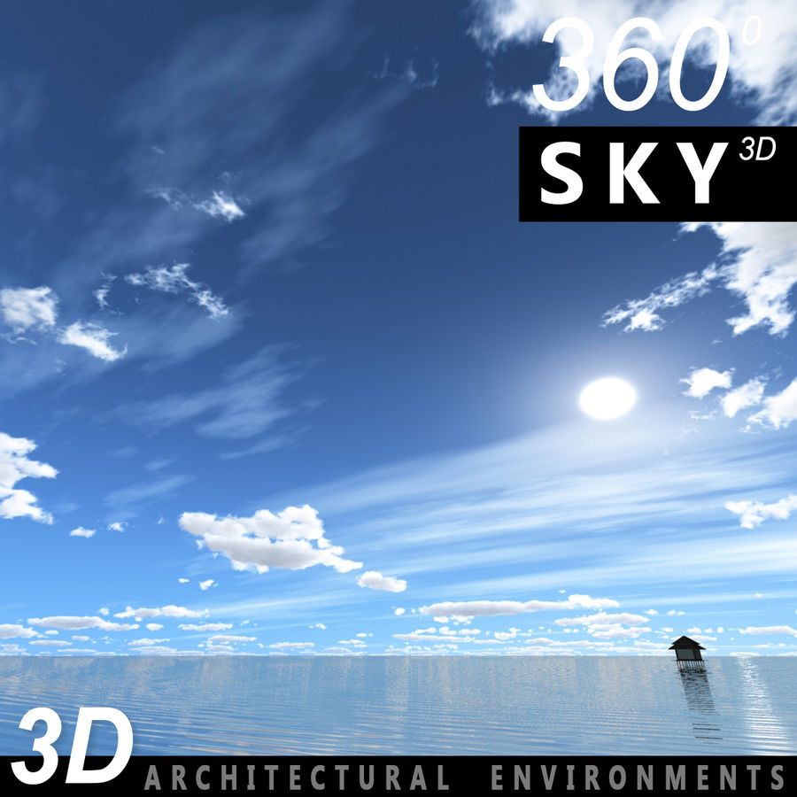 Sky 3D Day 040 royalty-free 3d model - Preview no. 1
