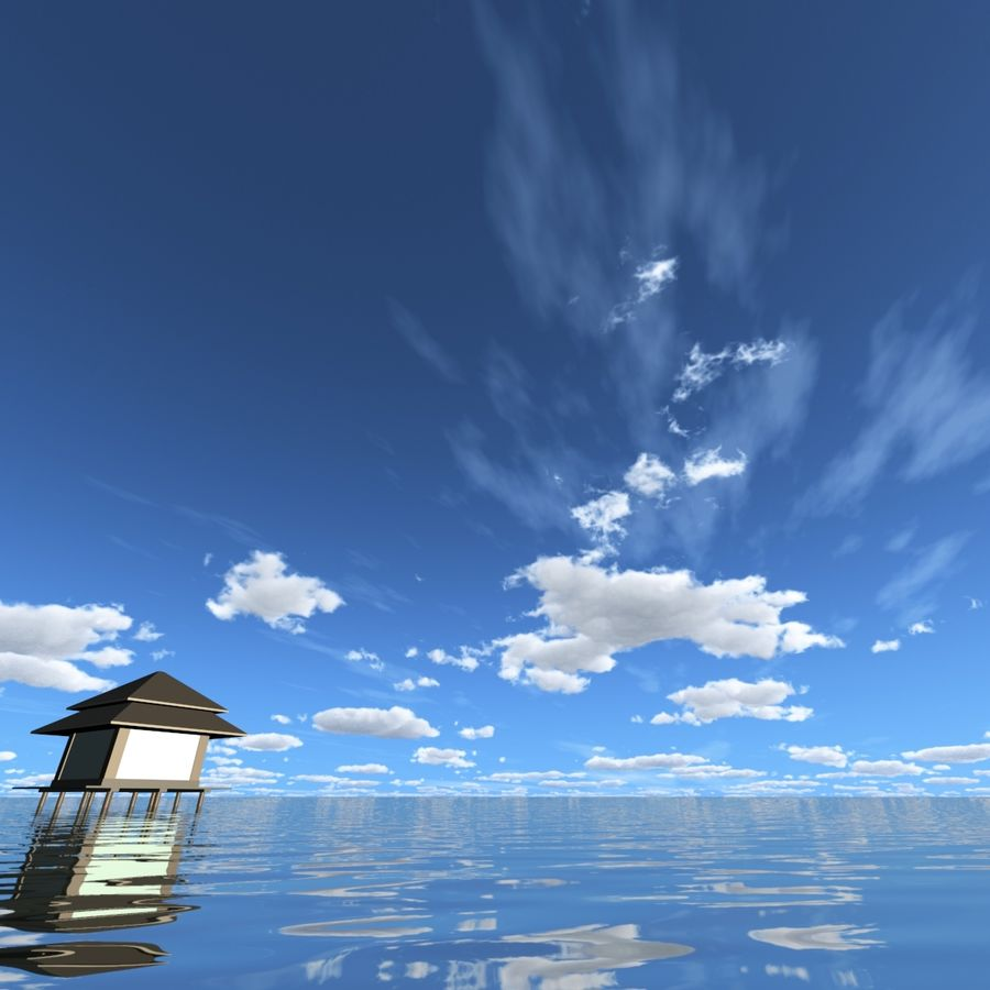 Sky 3D Day 040 royalty-free 3d model - Preview no. 3