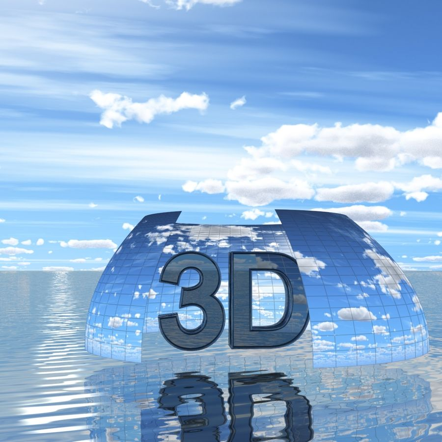Sky 3D Day 040 royalty-free 3d model - Preview no. 2