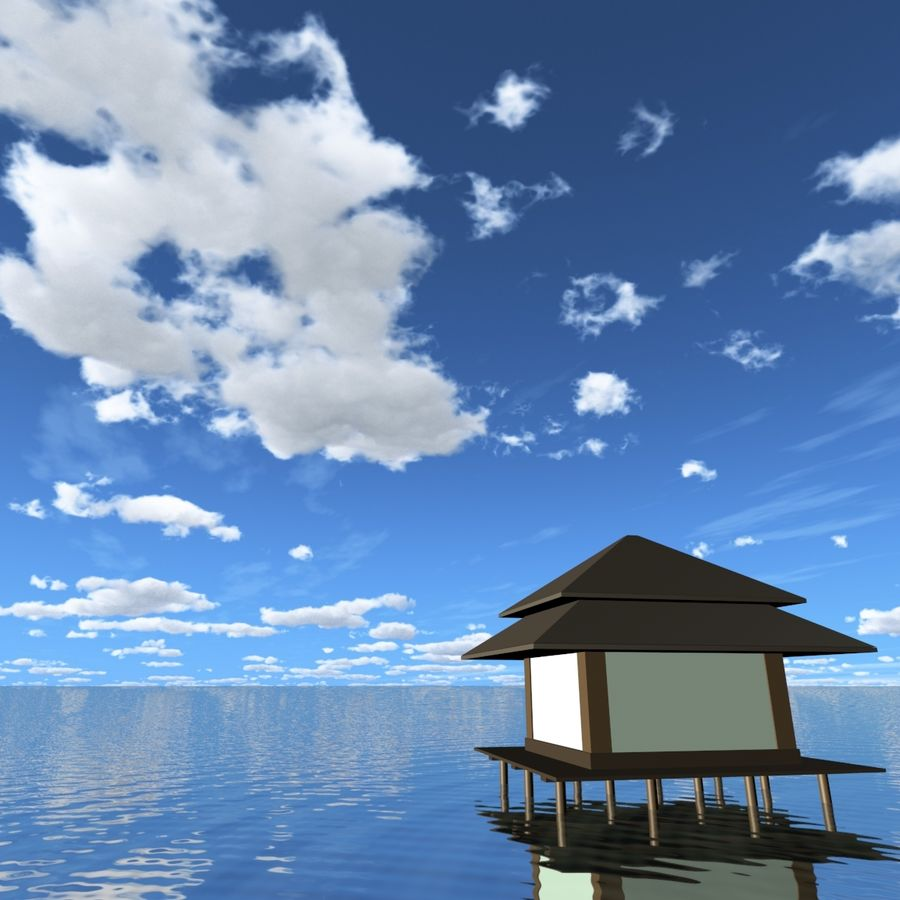 Sky 3D Day 040 royalty-free 3d model - Preview no. 6