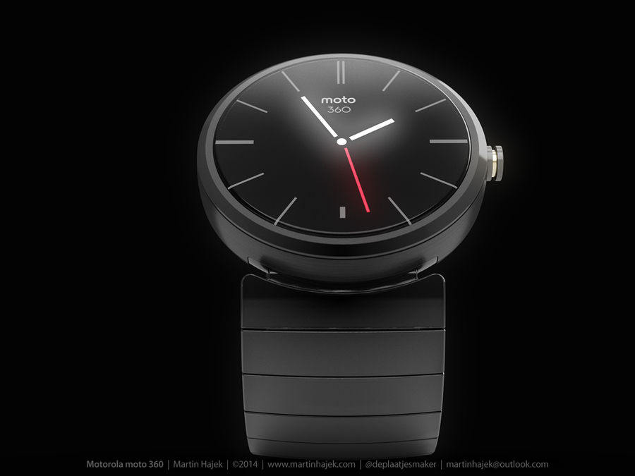Motorola Moto 360 metal + NURBS royalty-free 3d model - Preview no. 12