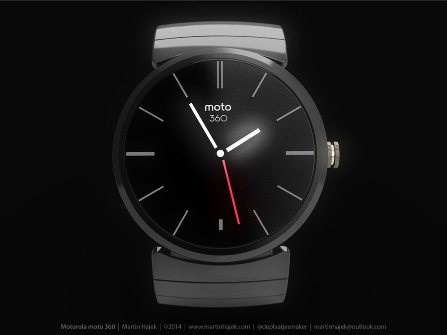 Motorola Moto 360 metal + NURBS royalty-free 3d model - Preview no. 4