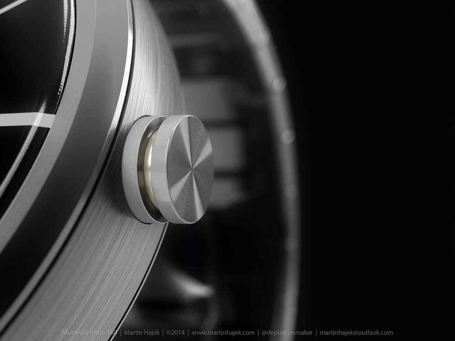 Motorola Moto 360 metal + NURBS royalty-free 3d model - Preview no. 14