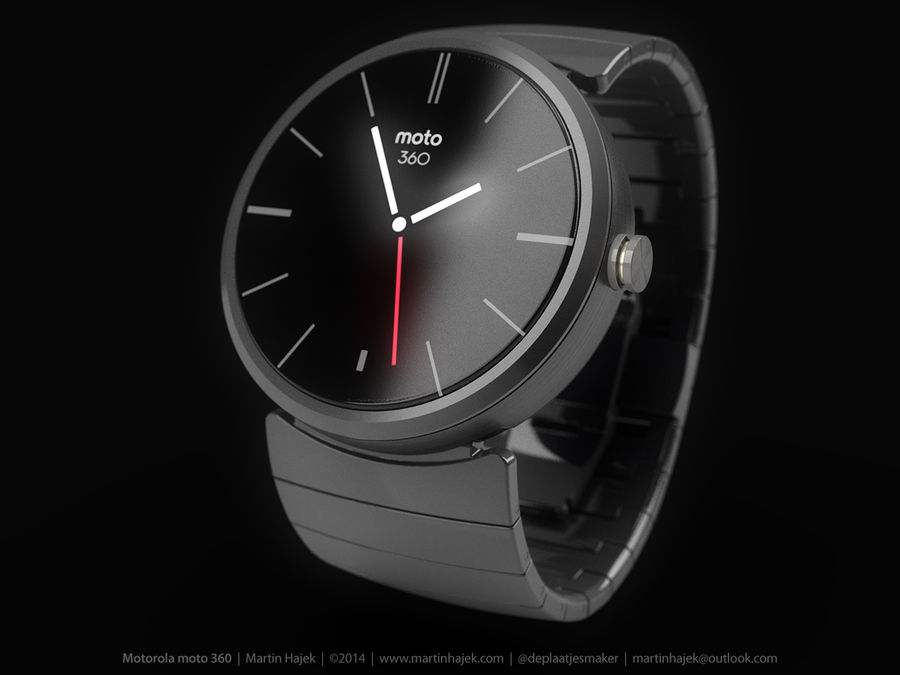 Motorola Moto 360 metal + NURBS royalty-free 3d model - Preview no. 6