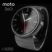 Motorola Moto 360 metall + NURBS 3d model