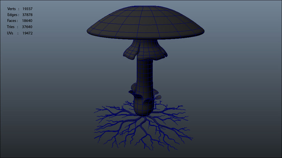 Mycelium royalty-free 3d model - Preview no. 8