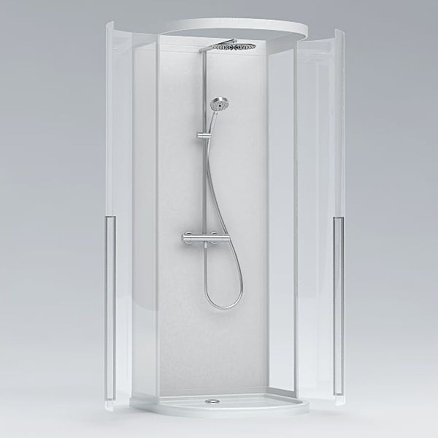 Shower cabin016 royalty-free 3d model - Preview no. 4