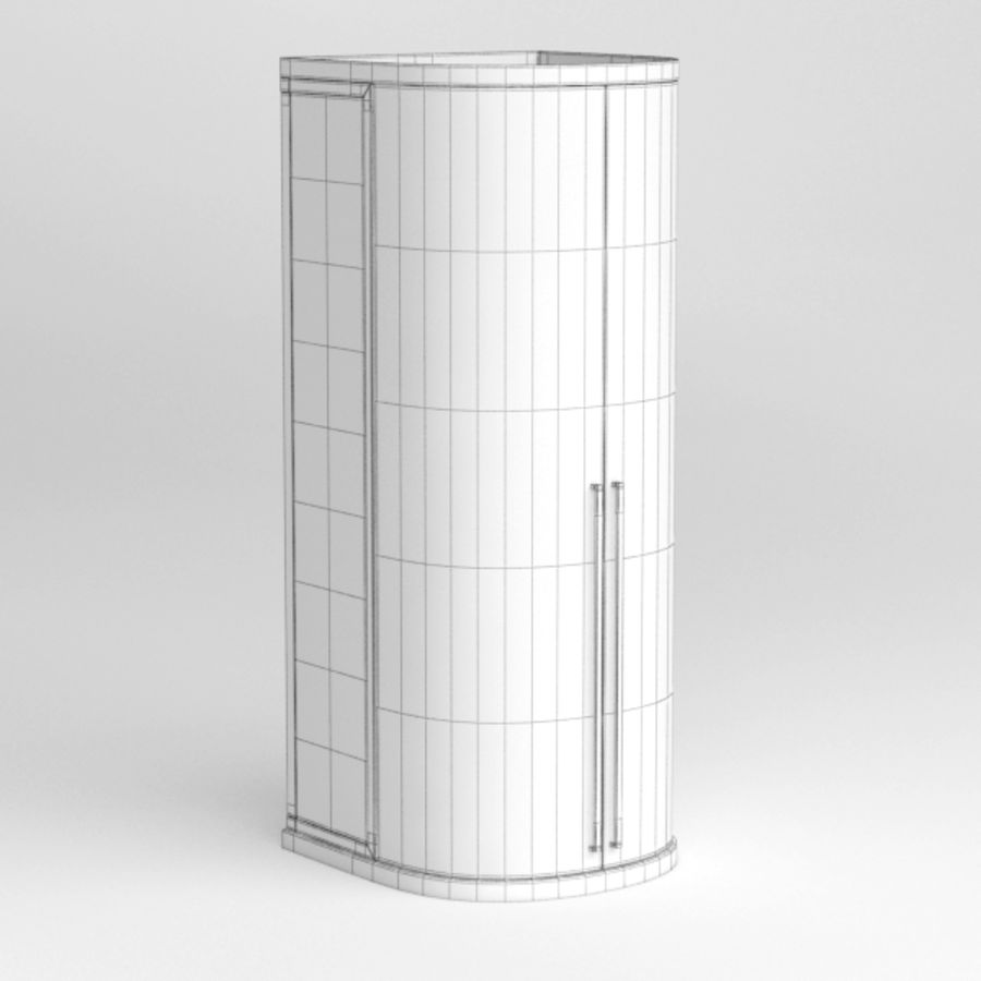Shower cabin016 royalty-free 3d model - Preview no. 5