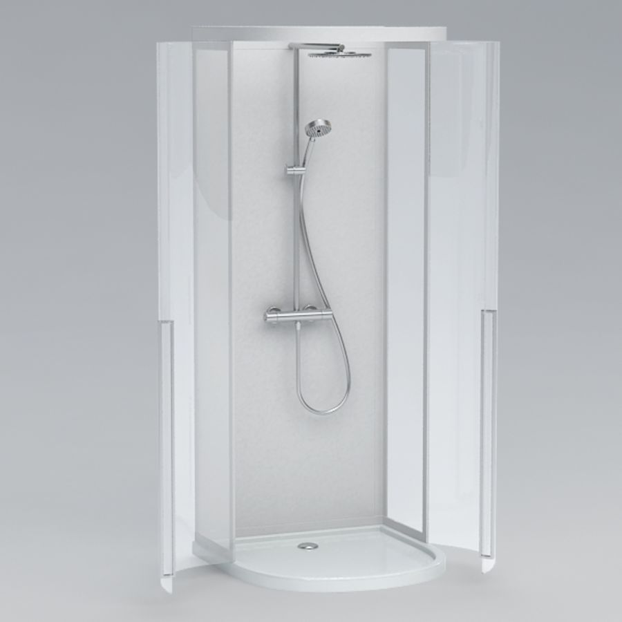 Shower cabin016 royalty-free 3d model - Preview no. 3