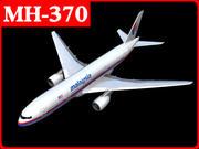马来西亚航空公司mh370 mh17 3d model