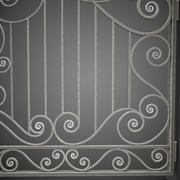 Wrought Iron Gate 32 3d model