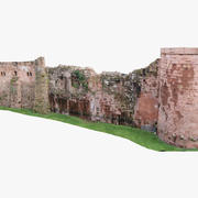 Medieval wall Heidelberg Castle 3d model
