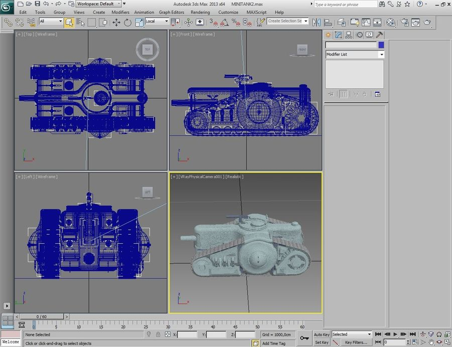 Dieselpunk tank royalty-free 3d model - Preview no. 2