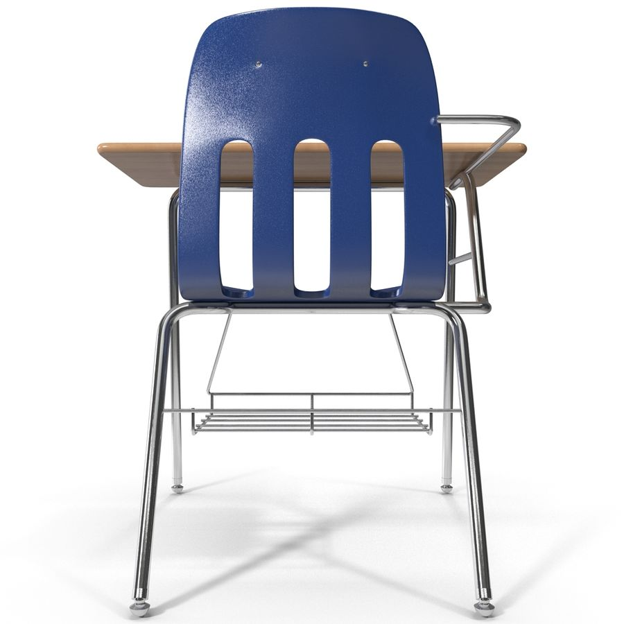 Students Desk royalty-free 3d model - Preview no. 5