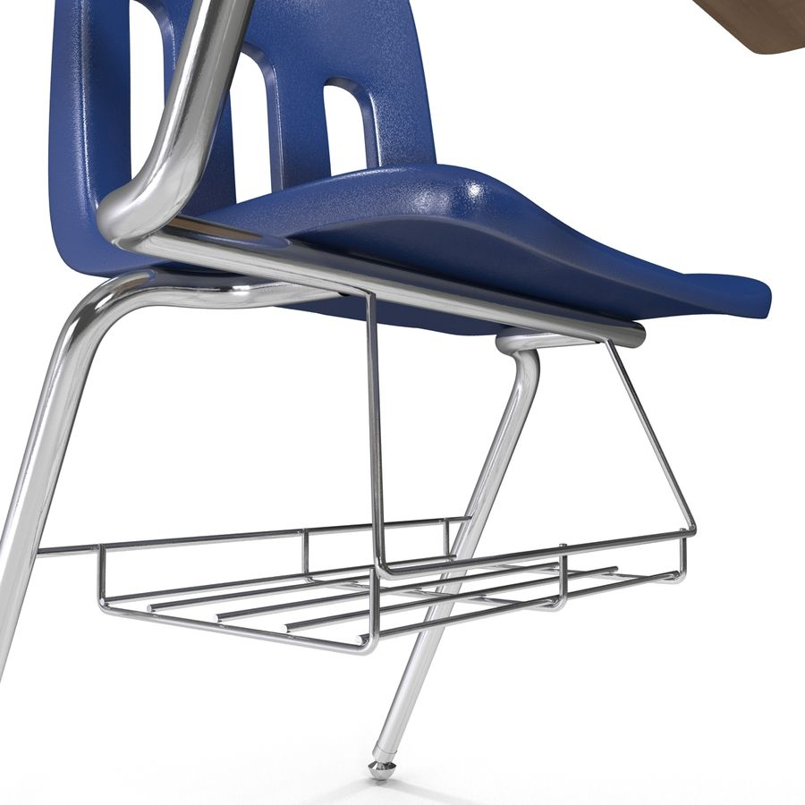 Students Desk royalty-free 3d model - Preview no. 16