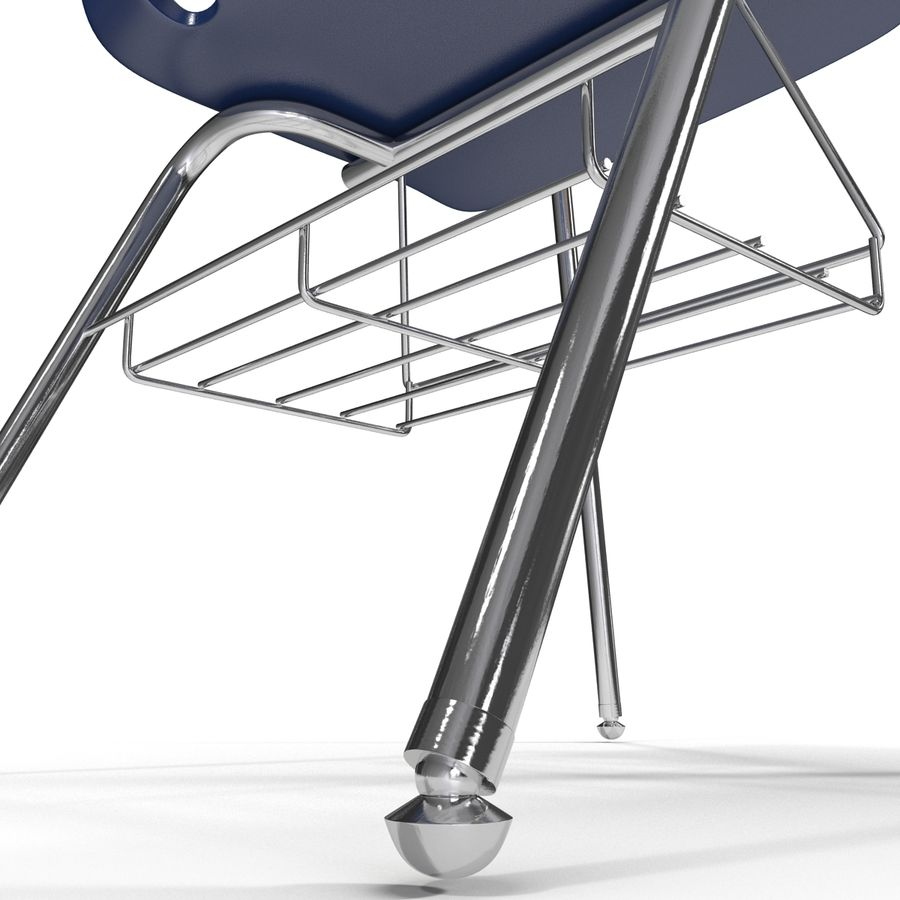 Students Desk royalty-free 3d model - Preview no. 17