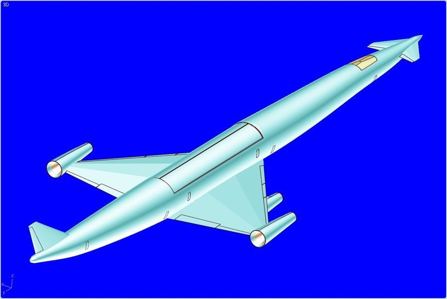 LAPCAT A2 Hypersonic Aircraft实体装配模型 royalty-free 3d model - Preview no. 5