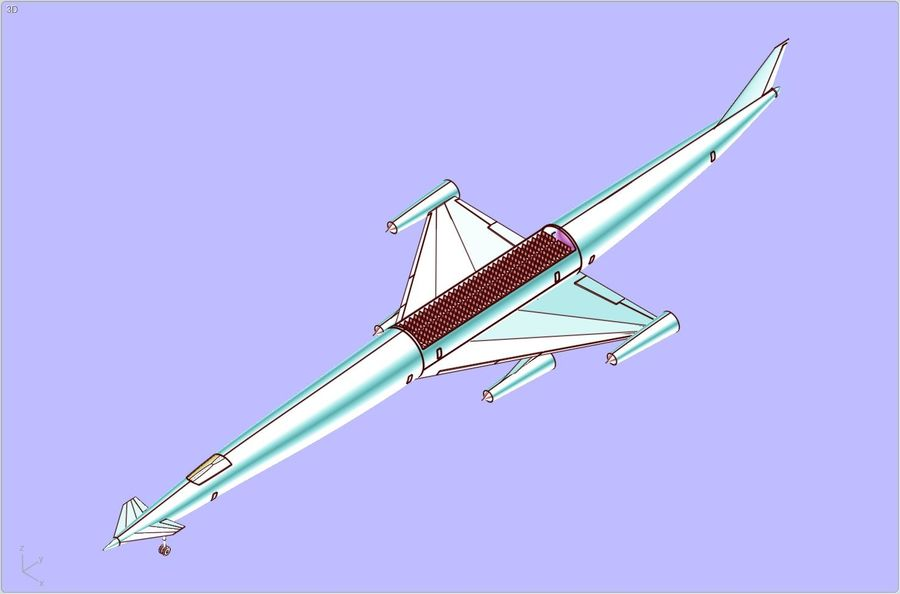 LAPCAT A2 Hypersonic Aircraft实体装配模型 royalty-free 3d model - Preview no. 22