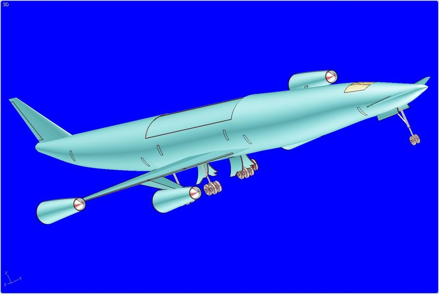 LAPCAT A2 Hypersonic Aircraft实体装配模型 royalty-free 3d model - Preview no. 6