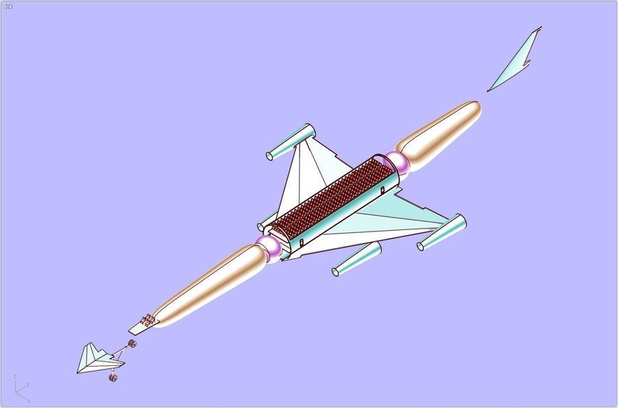 LAPCAT A2 Hypersonic Aircraft实体装配模型 royalty-free 3d model - Preview no. 19