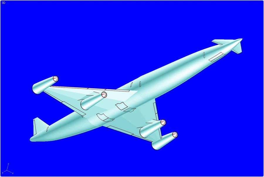 LAPCAT A2 Hypersonic Aircraft实体装配模型 royalty-free 3d model - Preview no. 4