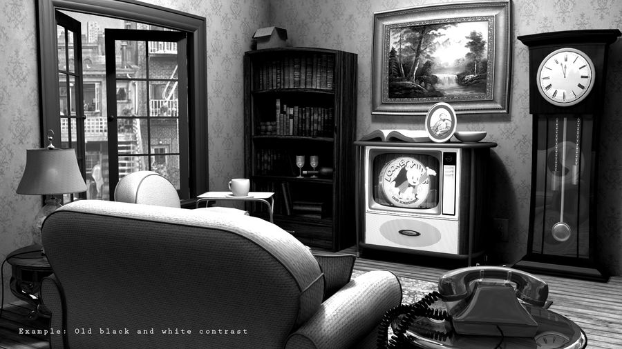 Çizgi film odası royalty-free 3d model - Preview no. 1