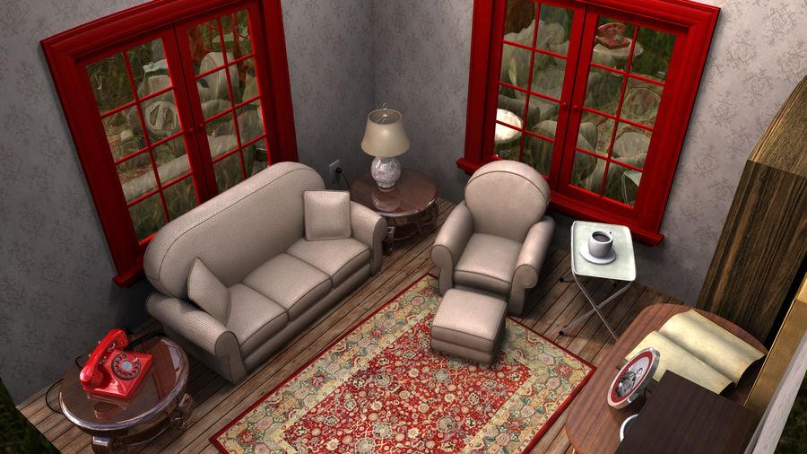 Çizgi film odası royalty-free 3d model - Preview no. 4