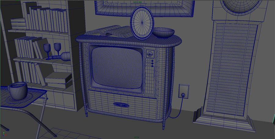 Çizgi film odası royalty-free 3d model - Preview no. 12