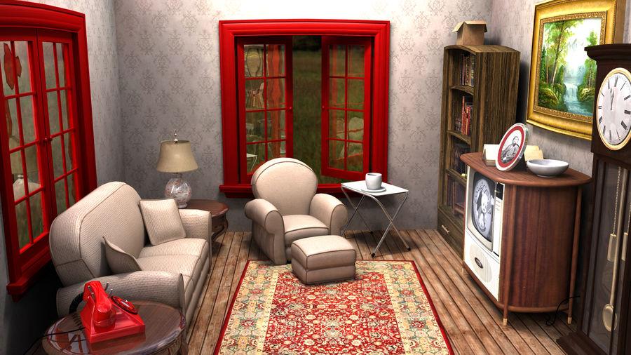 Çizgi film odası royalty-free 3d model - Preview no. 6