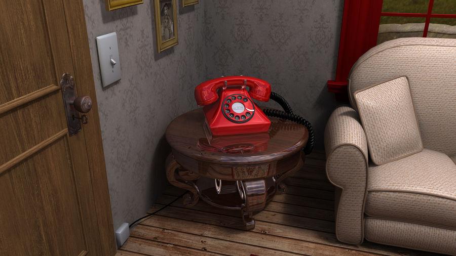 Çizgi film odası royalty-free 3d model - Preview no. 7