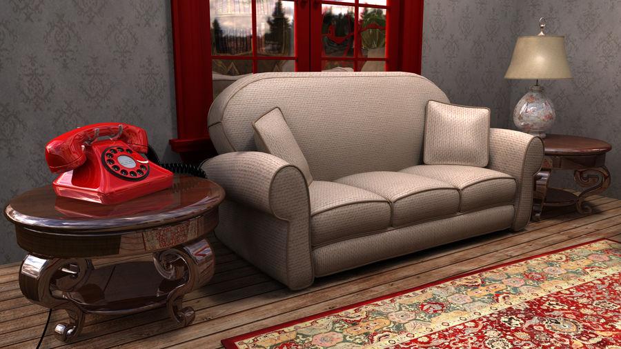 Çizgi film odası royalty-free 3d model - Preview no. 3